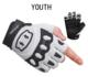 Bicycle Gloves Seibertron Youth Dirtclaw Unisex BMX MX ATV MTB Road Racing Mountain Bicycle Cycling Off-Road Dirt Bike Gel Padded Gloves