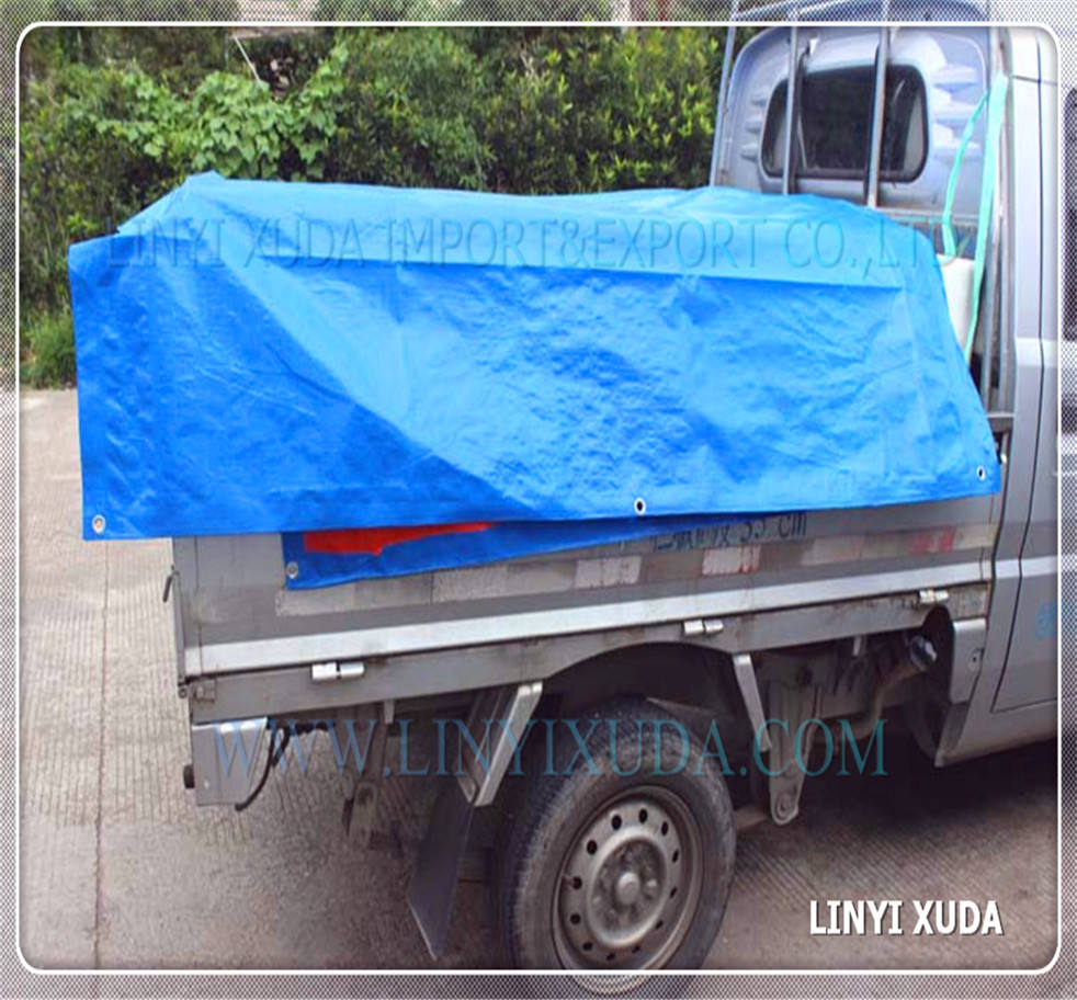 blue silver 120gsm PE tarpaulin plastic sheet truck cover car cover