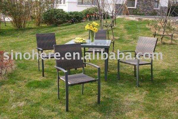 <span class=keywords><strong>Muebles</strong></span> de Jardín establece comedor de ratán mimbre mesa con sillas