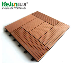 Wholesaler cheap interlocking composite balcony anti-slip outdoor floor tiles