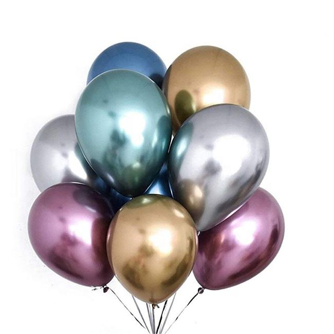 5 Zoll Party Dekoration Riesige aufblasbare Helium Latex Metall farbe Chrom <span class=keywords><strong>Luftballons</strong></span> Party Ballon Metallic Latex <span class=keywords><strong>Luftballons</strong></span>
