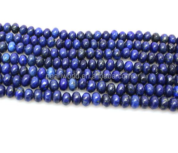 5x8mm Natural Indigo Lapis Lazuli Gem loose Beads 15/""
