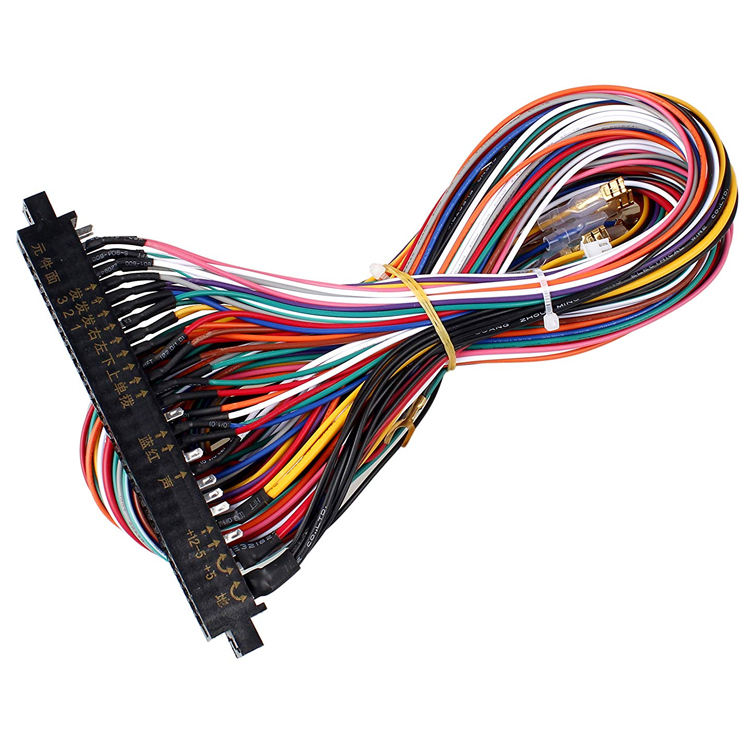 Jamma Kabel PCB Antarmuka 56 Pin, Kawat Kabel Harness Loom Multiade Arcade untuk Mesin Arcade Konsol Video Game