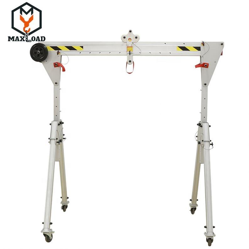 Material Handling Workshop portaable Portal Crane with Lifting Hoist
