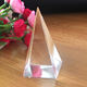Clear Engraved Crystal Glass Pyramid For Giving Away Gift