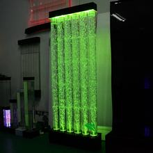 indoor floor standing bubble wall changing led light acrylic water bubble panel screen