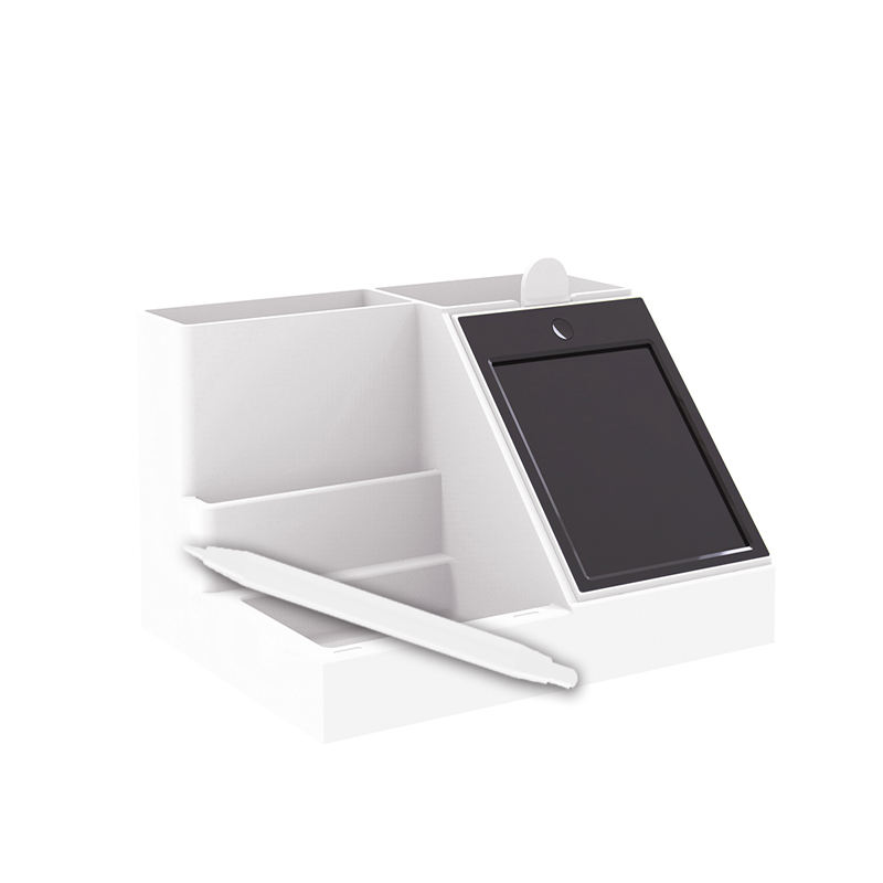 Office Desktop Organizer with Phone Stand, Pen Holder and LCD memo board