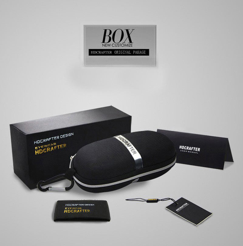 2020 HDCRAFTER Fashion Sunglasses Case Eyeglass Cases For Sun Glasses Box Black Without Glasses