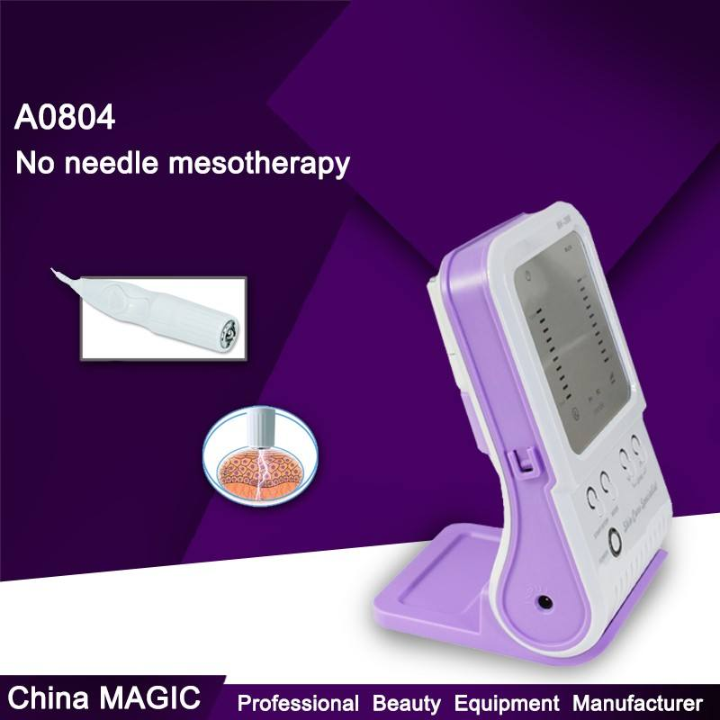 A0804 Draagbare anti-aging facial apparaat/geen naald messotherapy machine
