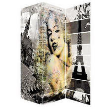 Factory direct canvas fabric paravent marilyn monroe canvas room divider