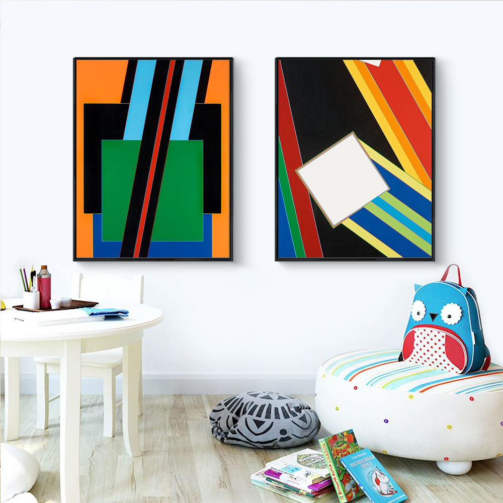 China made home decor group paintings abstract nordic canvas for kids room