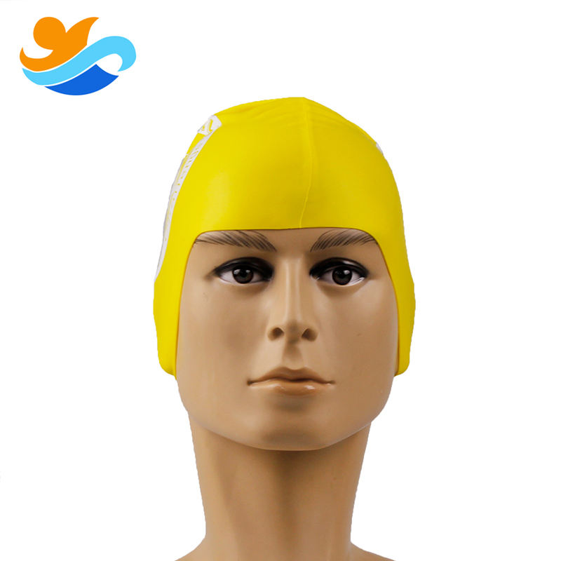 Adult funny ear protection silicone swim cap for swimming cap water polo