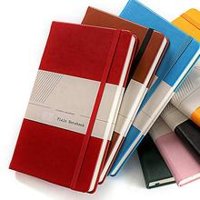Printing Logo With Elastic Band A5 Size Hard Cover Custom PU Leather Notebook