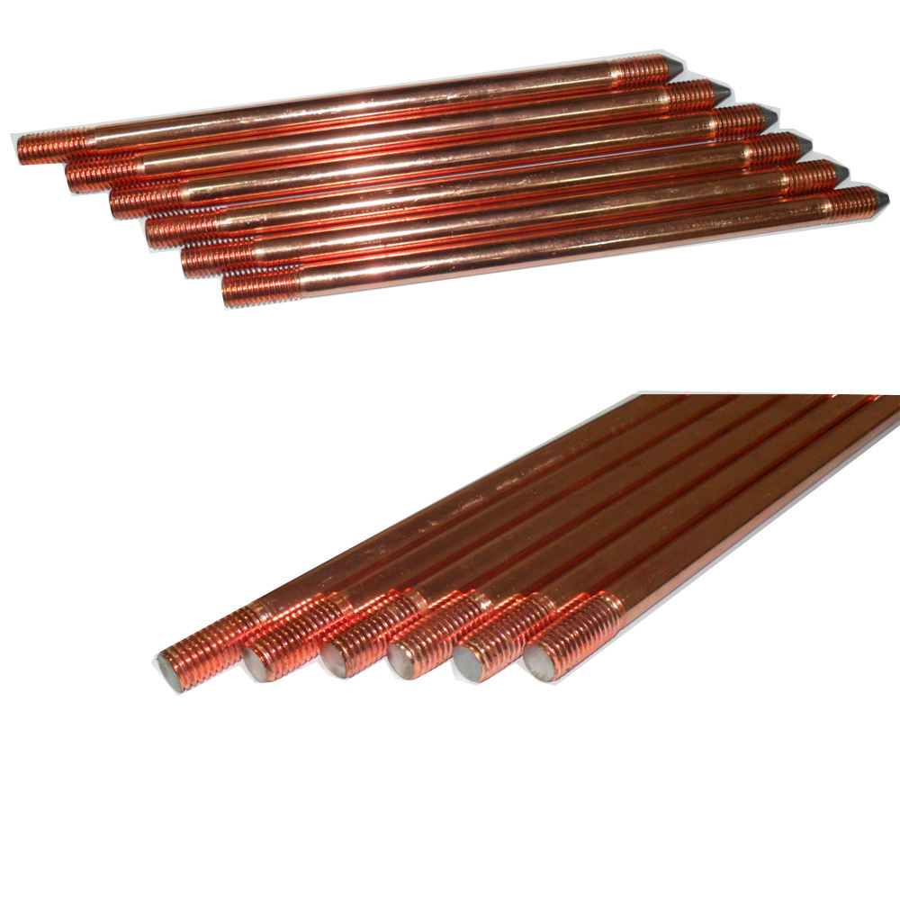 GEM Enhancement Material ground rod coupler/copper clad ground rod