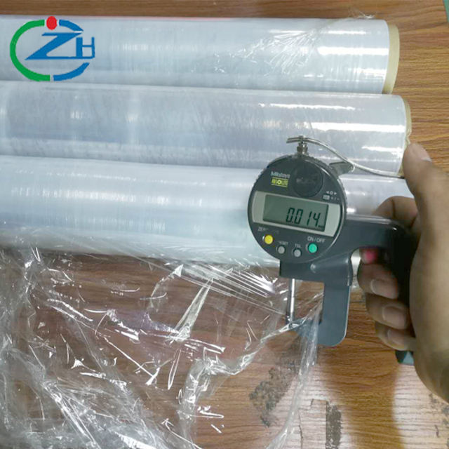 12mic 15mic transparent polyethylene stretch film for manual or mechanical packaging