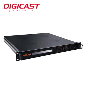 DIGICAST SD Analog to Digital Converter H.264 Mpeg2 การเข้ารหัส AV to DVB-C Modulator สำหรับสาย TV Headend ระบบ