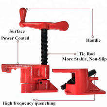 Standard Heavy duty Pipe clamp 3 / 4 Woodworking with Rubber  urability Life 3/4 inch Pipe Clamps Hand Tools