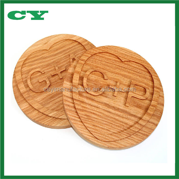 Engraving Craft Cooking Pan Stand Wooden Trivet for Hot Dishes