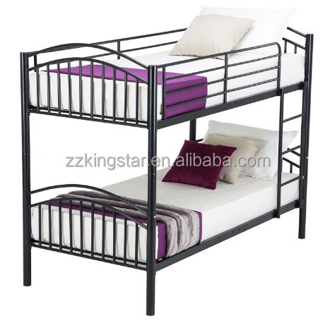 Double decker metal bed designs steel bunk bed for kids