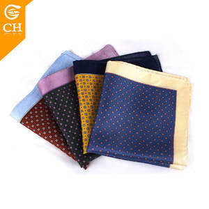 Wholesale Custom 100% Men Silk Pocket Square with your Brand Label Wholesale Custom Silk Handkerchief