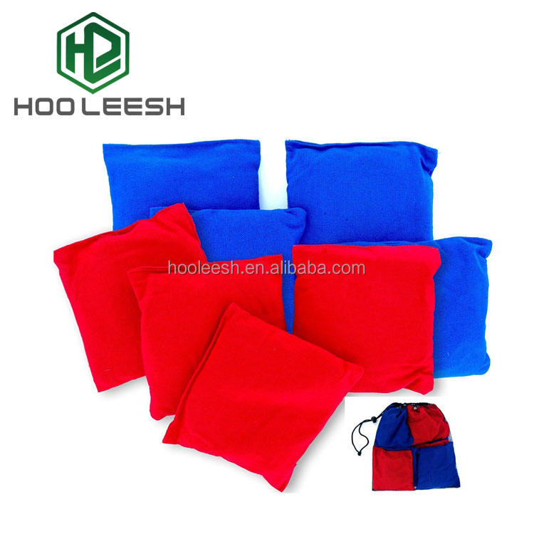 Outdoor 8 Standard Corn Filled Regulation Canvas Cloth Cornhole Bean Bags