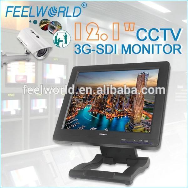 12.1 '' wireless cámara de seguridad full hd 3G-SDI HDMI YPbPr audio, vídeo