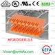 Dual row plug terminal connector 3.5mm male Right angle pin socket electrical wire terminal connector orange color KF2EDGER-3.5