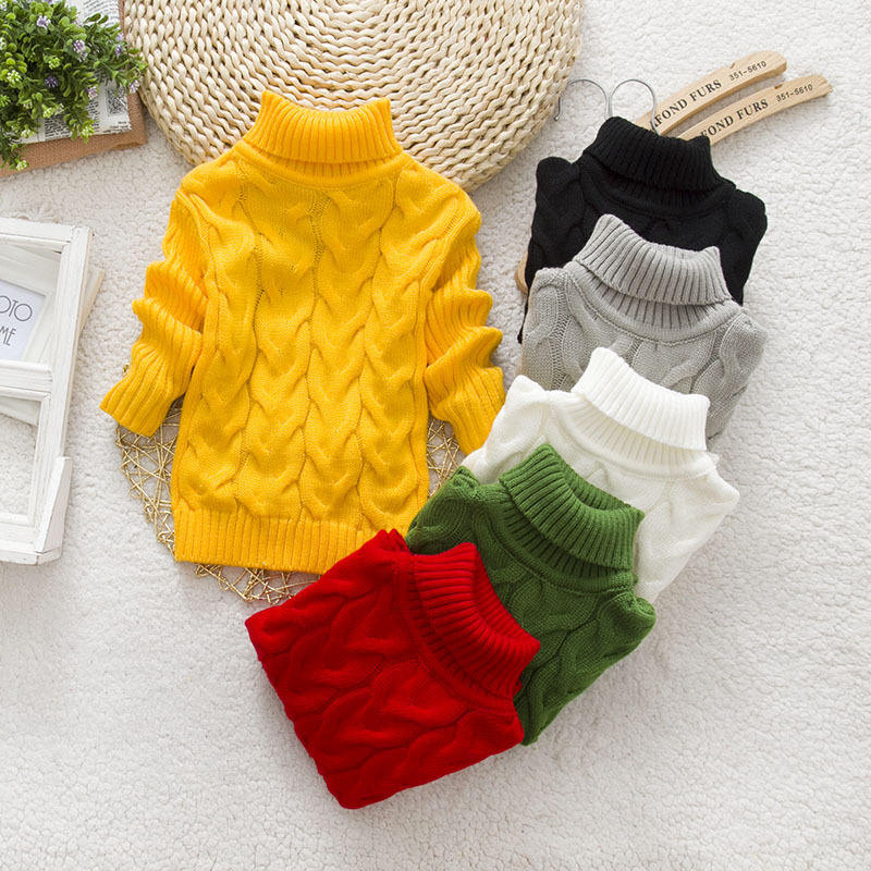 High Quality Fashion Boys Sweater New Design Popcorn Pullover Pink White Kids Suit Plain Cute Thick Sweaters Tops For Girls Suit