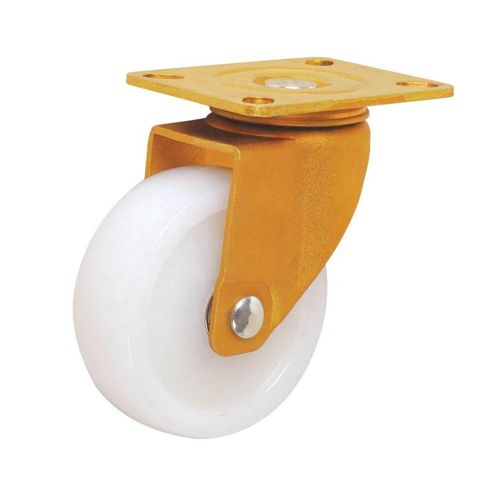Medium Duty 75*32mm 150kg White Nylon Caster Wheel