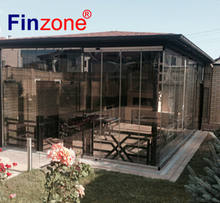 special durable frameless balcony folding partitions wall in transparent