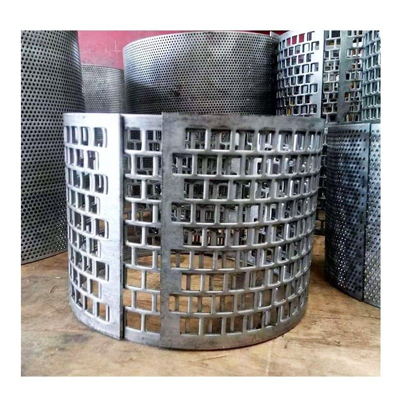 Square Lubang Anti-Korosi SUS304 Sus316 Stainless Steel PERFORATED Sheet Menekan Logam Silinder Filter untuk Penyaringan Industri