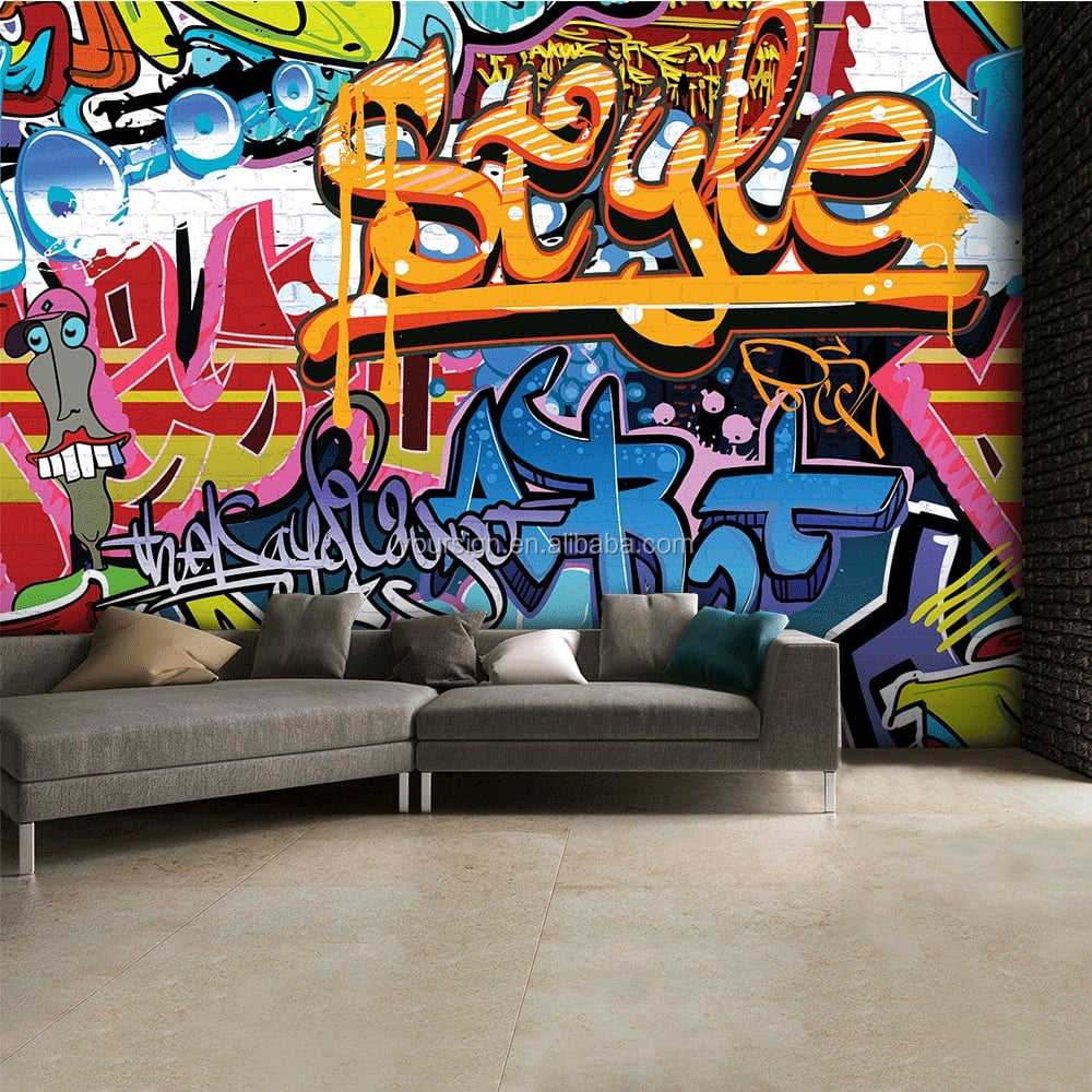 custom graffiti wall mural photo wallpaper