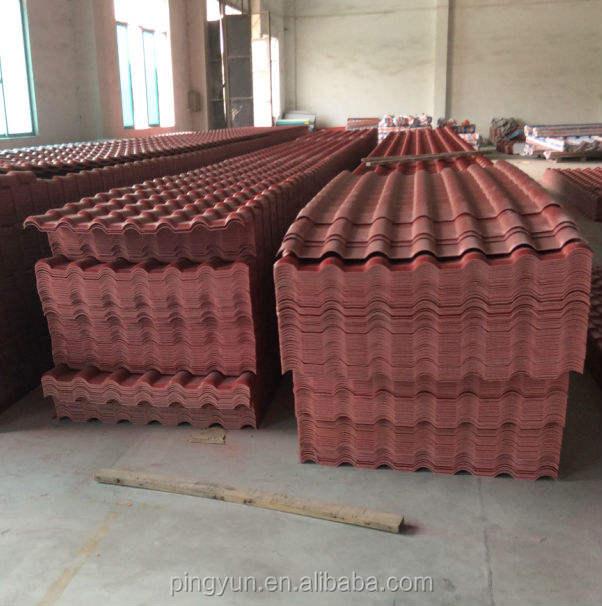Tây ban nha phong cách nhựa pvc gạch roof/chất lượng hàng đầu hoàng gia tấm lợp ngói/dễ dàng Cài Đặt pvc roof tấm
