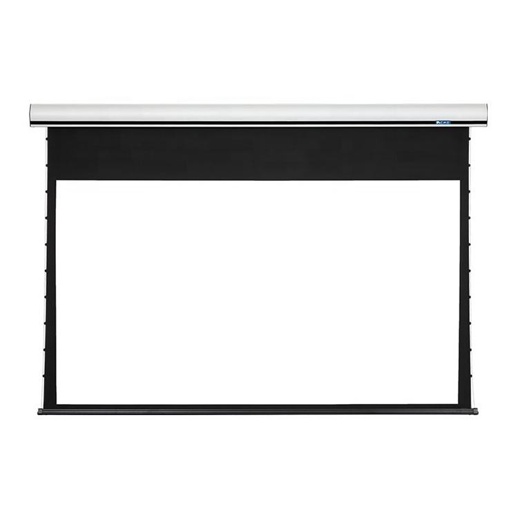 Electric projection screen electric screen for indoor or outdoor ceilings and wall-mounted pull-down matt white