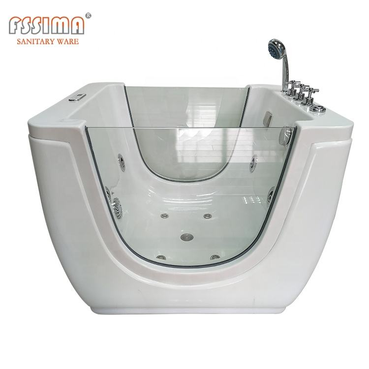 White Colour whirlpool spa whirlpool baby use massage bathtub