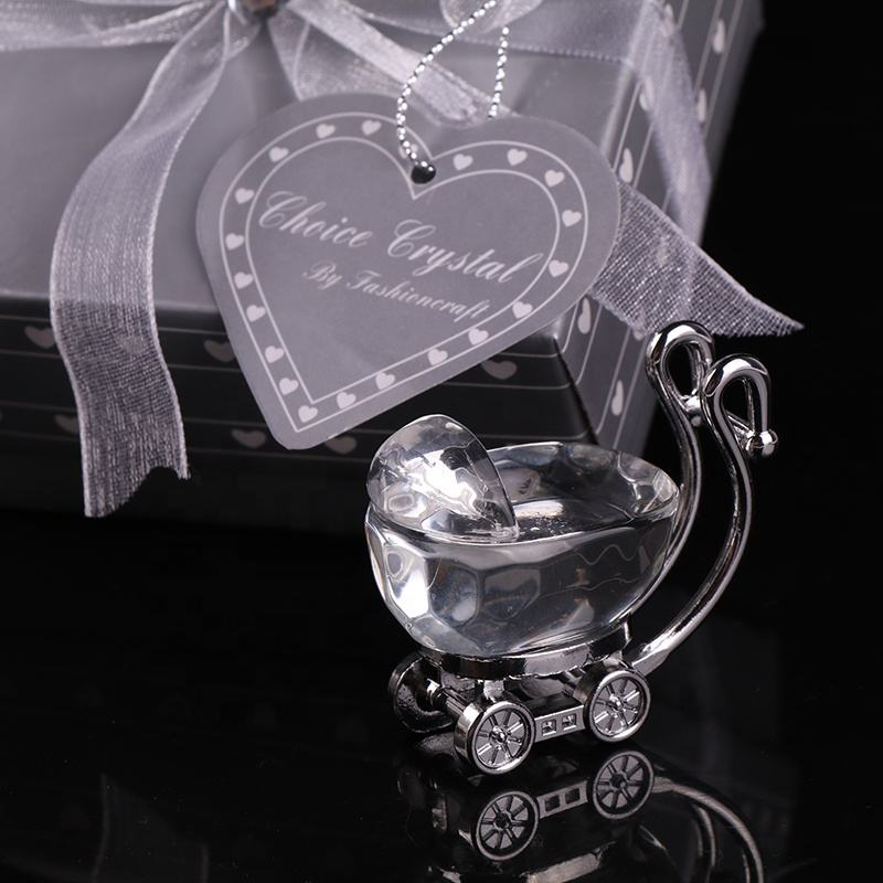 Wholesale Custom Crystal Baby Carriage Souvenir Gifts For Birthday