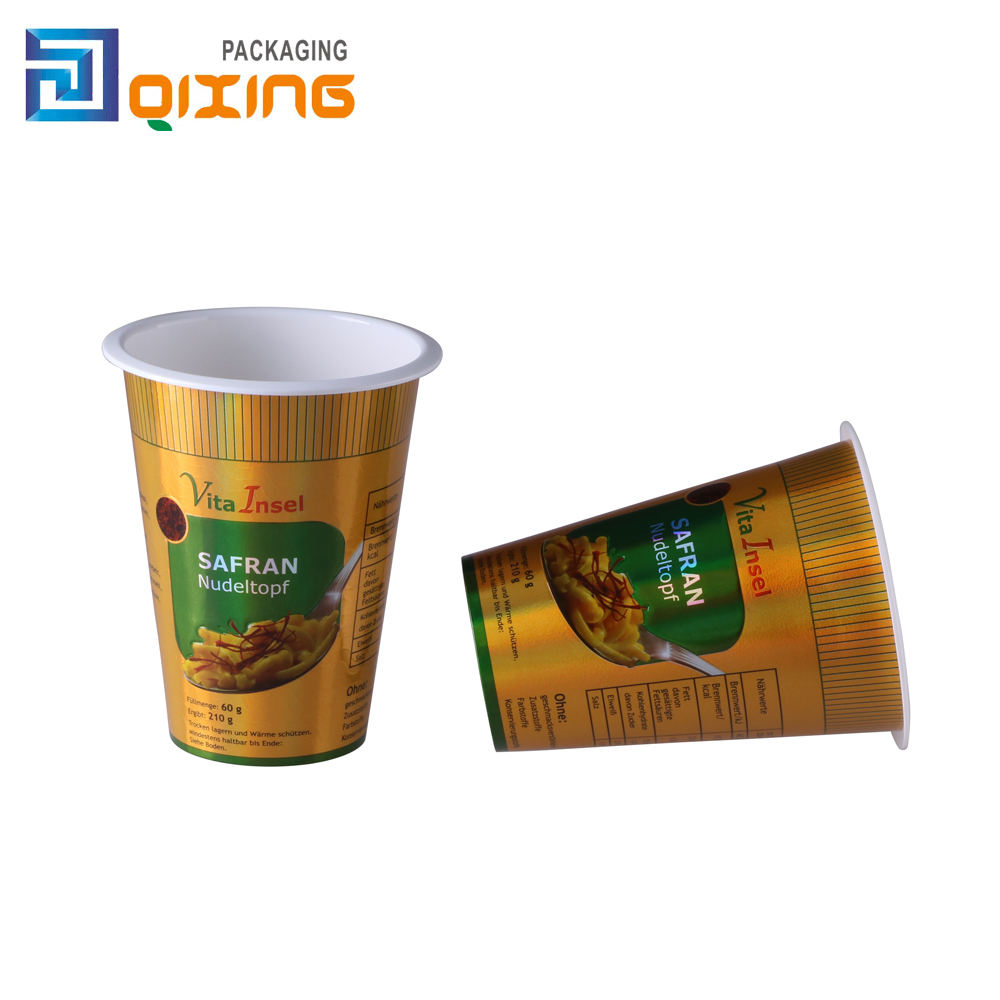 pasta snack food packaging cup with lid