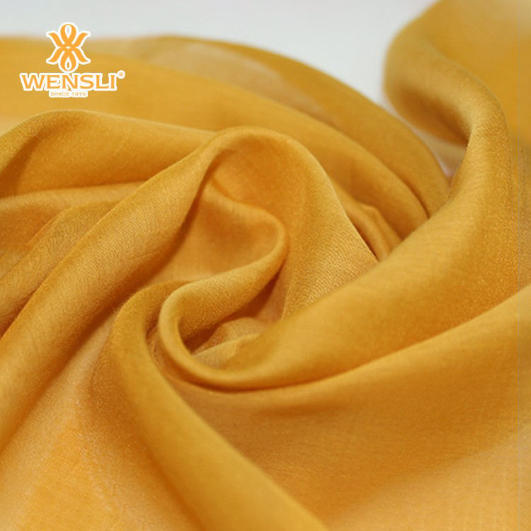 Chinese Woven Dyed Lining Golden Floss Silk and Cotton Blend Fabric