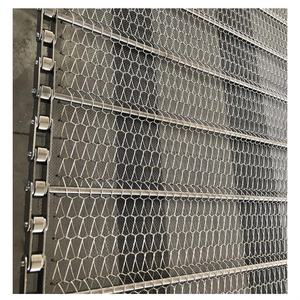 Transmisi Rantai Conveyor Belt Stainless Steel Spiral Mesh Belt