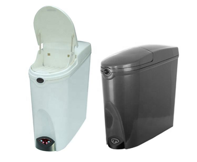 20L Household bathroom plastic lady sanitary pad disposal touchless sensor trash bin