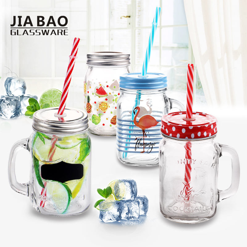 Eco-friendly storage bottles & jars mini mason jar Beverage glass jar with plastic lid