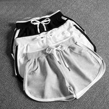Custom made embroidery print logo women running shorts cotton gym shorts