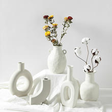 APHACATOP Ideal Weddings Flowers  White Ceramic Vase