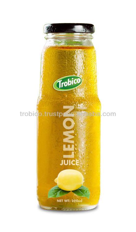 250ml стеклянная бутылка лимонный сок