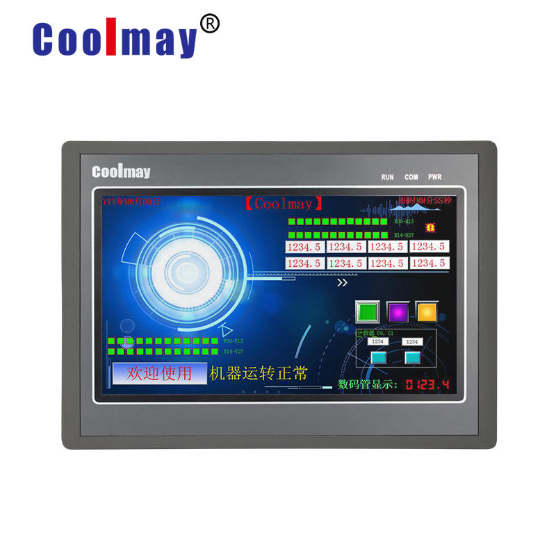 fast running speed plc controller with 10inch resistive high resolution HMI support different analog points type