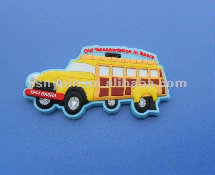Souvenir Jeep car shape soft pvc refrigerator/ fridge magnet