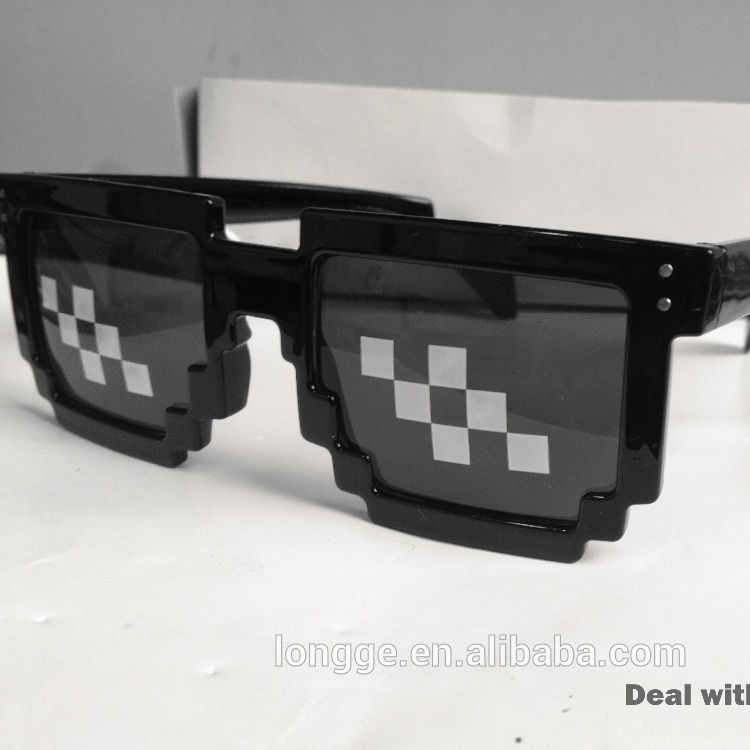 Pixel Sonnenbrille 8 bit Geek Nerd Brille Fashion Halloween Party Zubehör