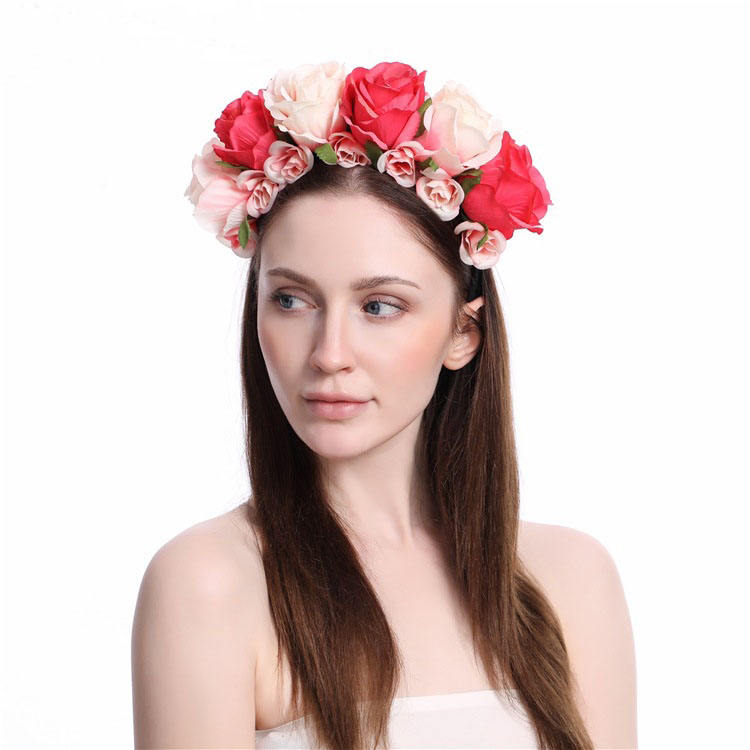 Wedding bridal beach party holiday travel halo floral garland ดอกไม้