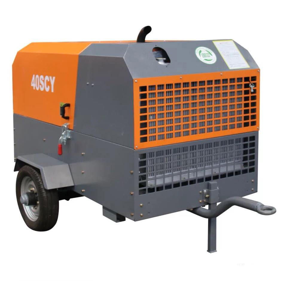 37kw 50hp 7bar outstanding performance best price for small diesel skid mounted air compressor 40SCY