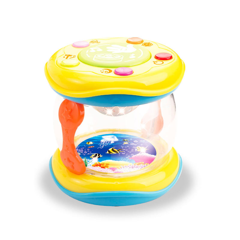 Preschool educational toy electric baby toys musical instruments toy drum with light
